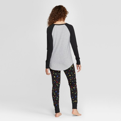 0eca63e10b62 Women s Peanuts Snoopy Holiday Super Soft Pajama Set - Black   Target