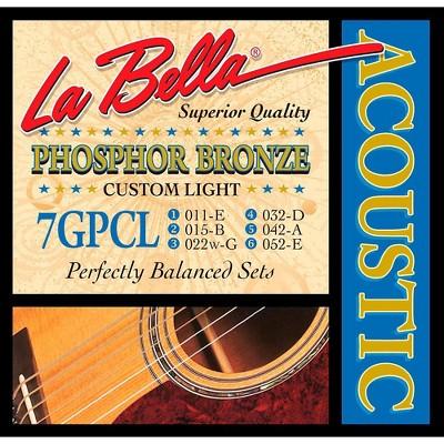 LaBella 7GPCL Phosphor Bronze Custom Light Acoustic Guitar Strings
