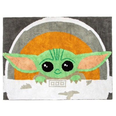 """3'6""""x4'6"""" Star Wars: The Mandalorian The Child Accent Rug"""