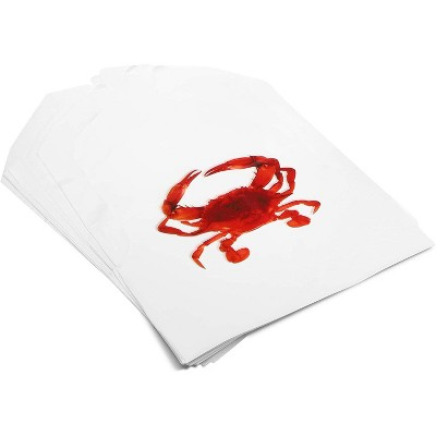 Juvale 100 Pack Disposable Adult Crab Bibs for Protecting Clothes (22 x 16.5 in)