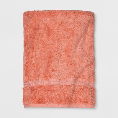 Perfectcly Soft Solid Bath Sheet Georgia Peach - Opalhouse™