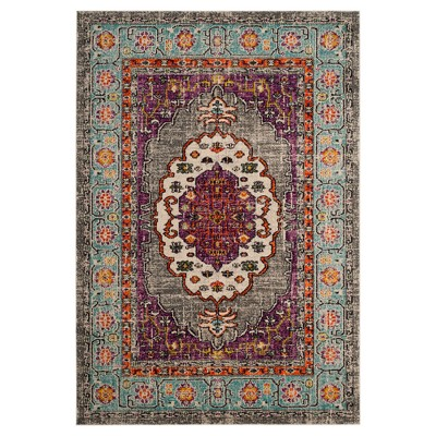Violet/Light Blue Medallion Loomed Area Rug 8'X10' - Safavieh