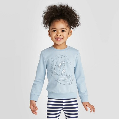 Toddler Girls' Frozen 2 Elsa Water Nock Crew Graphic T-Shirt - Sky Blue 2T