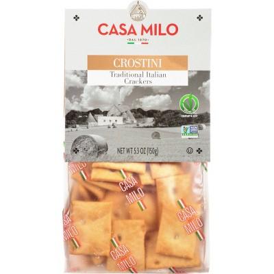 Atlanta Foods Casa Milo Traditional Crostini Crackers - 5.3oz
