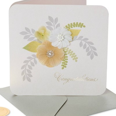 Wedding Floral Congratulation Card - PAPYRUS