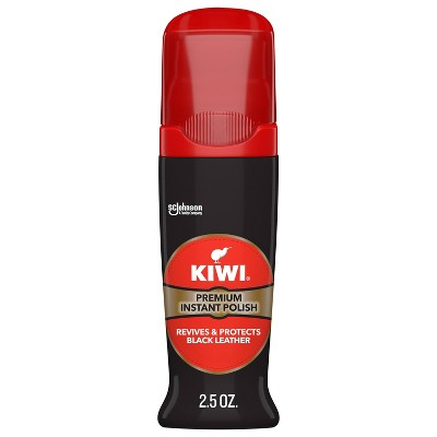 KIWI Instant Shine and Protect, Liquid Shoe Polish, 2.5 oz (1 Bottle with Sponge Applicator)