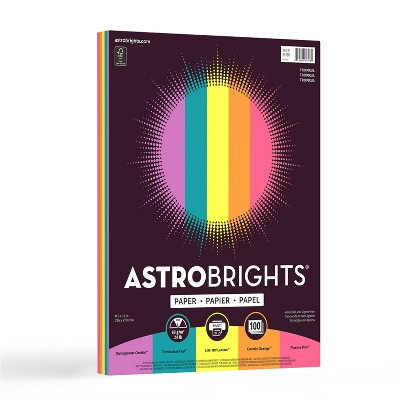 "100 Sheets Printer Paper 8.5""x11"" Tropical - Astrobrights"
