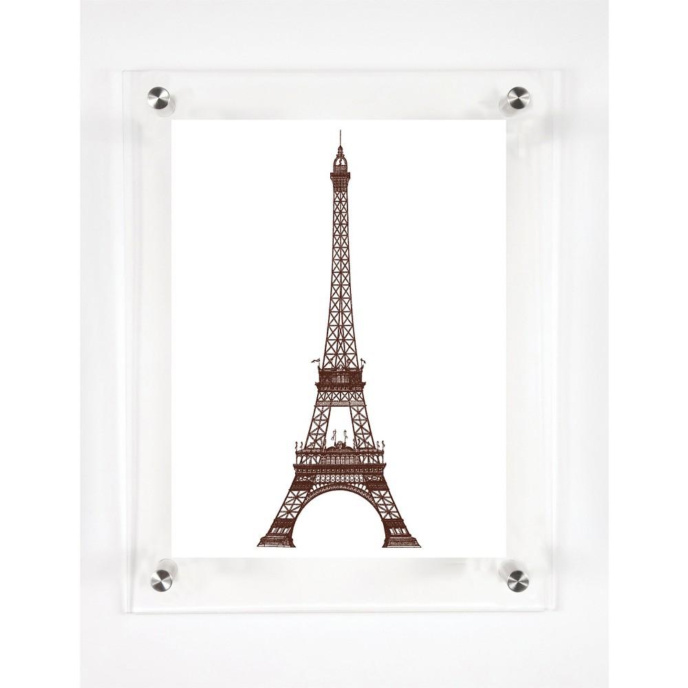 Mitchell Black La Tour Eiffel Decorative Framed Wall Canvas Coffee (Brown) (12