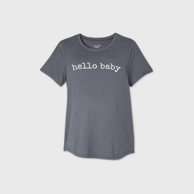 Maternity Short Sleeve Scoop Neck Graphic T-Shirt - Isabel Maternity by Ingrid & Isabel™