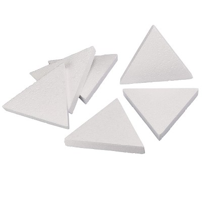 6 Pack Triangle Polystyrene Foam, Painting Activity for Kids, DIY Toy Puzzle, Arts & Crafts Supplies for School Project, 8 inches