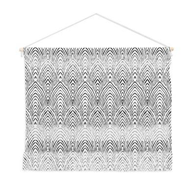 Alison Janssen Hand Drawn Deco Fiber Wall Hanging - Society6