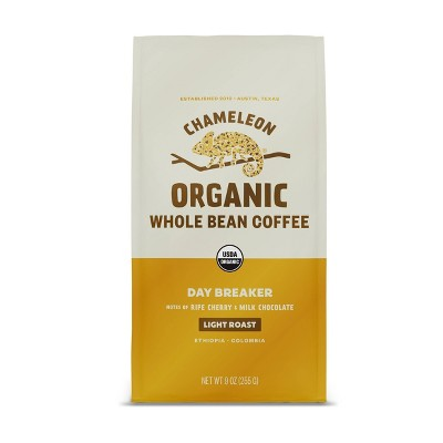 Chameleon Organic Day Breaker Light Roast Whole Bean Coffee - 9oz