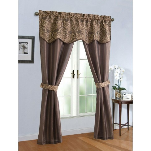 Kate Aurora Complete 5 Pc. Sheer Window in a Bag Curtain & Valance Set - image 1 of 1