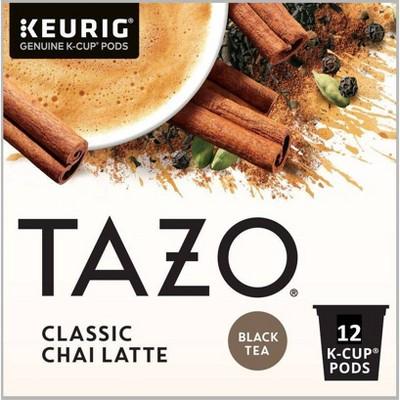 Tazo Classic Chai Latte Black Tea Coffee Pods – 12ct