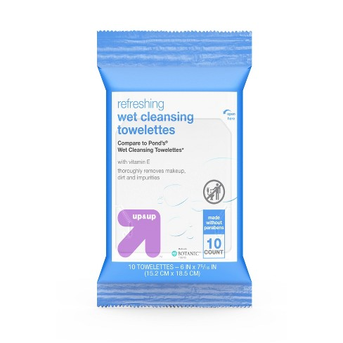 Facial Wipes - 10ct - up & up™ - image 1 of 4