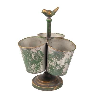 13 H Decorative Container - Green - Foreside Home&Garden
