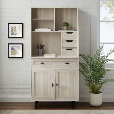 "64"" Storage Desk & Hutch With Keyboard Drawer - Saracina Home : Target"