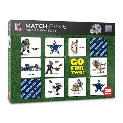 NFL Dallas Cowboys Memory Match Game