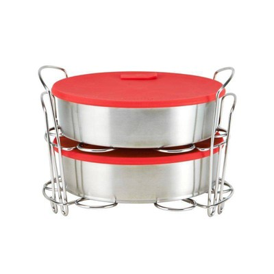 Instant Pot Set of 2 Pans with Lids and 2 Racks