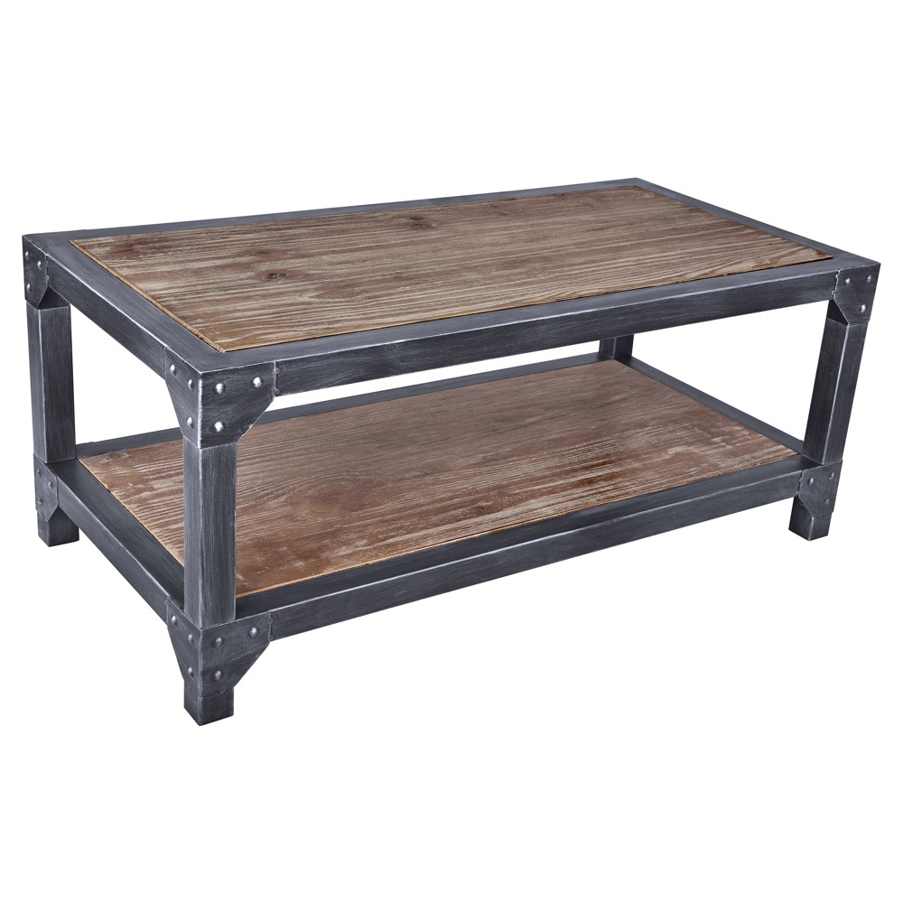 Image of Abydos Industrial Coffee Table Pine - Modern Home, Gray Brown
