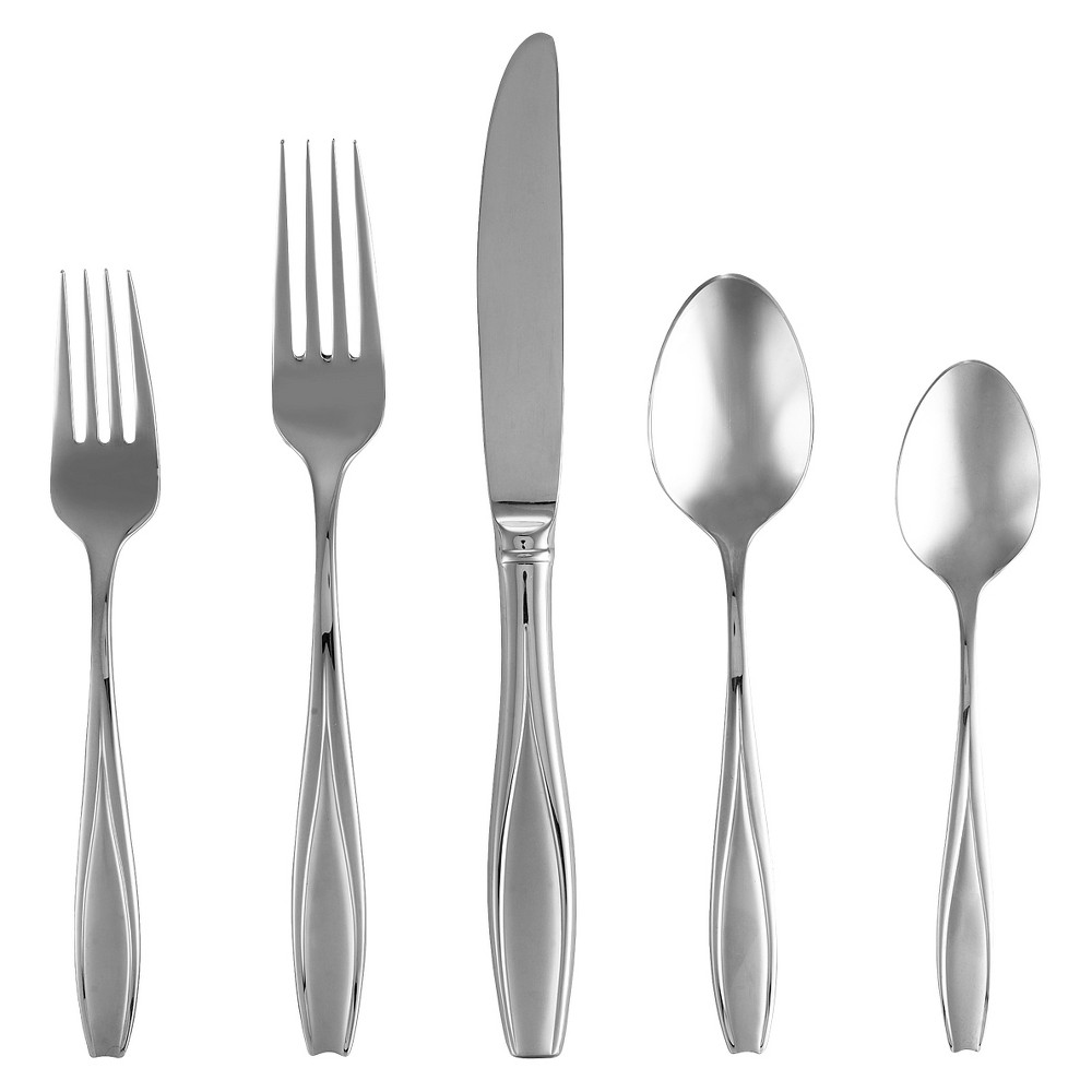 Image of Gorham Frosted Tulip 5-pc. Silverware Set