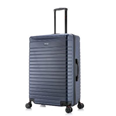 "InUSA Deep 28"" Lightweight Hardside Spinner Suitcase - Blue"