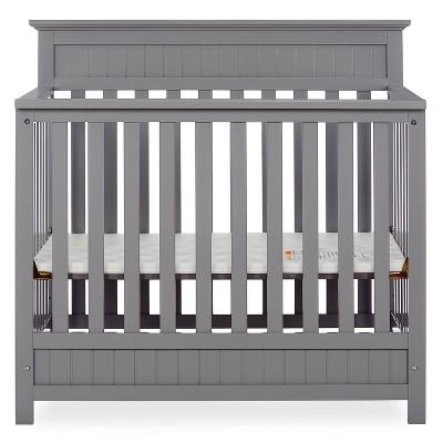 Dream On Me Aspen 4-in-1 Convertible Mini Crib - Gray