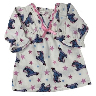 Doll Clothes Superstore Flannel Eeyore Nightgown Fits 15-16 Inch Baby Dolls And 18 Inch Girl Dolls