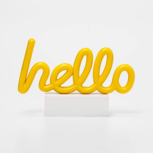Hello Mini LED Table Lamp Yellow - West & Arrow - image 1 of 4