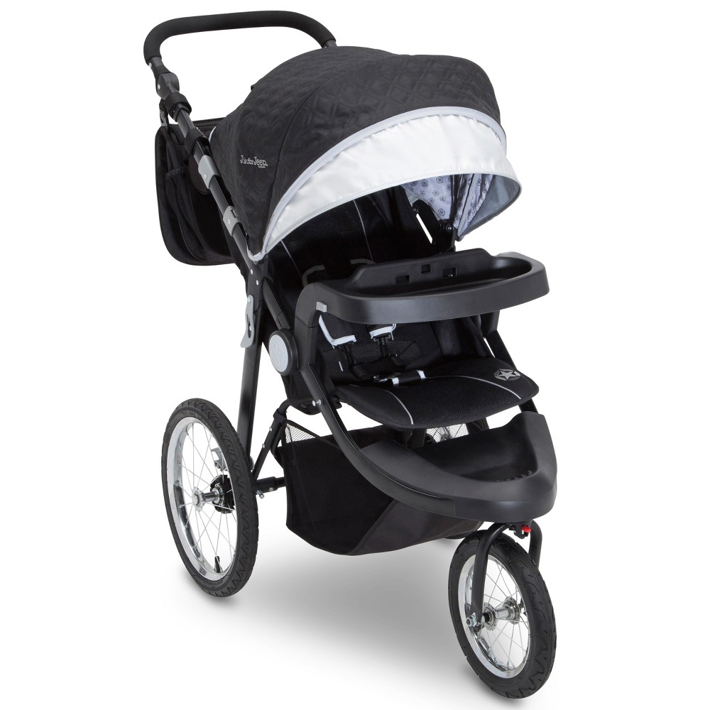 Image of Jeep Cross-Country Sport Plus Stroller Jogger by Delta Children - Charcoal Galaxy, Gray