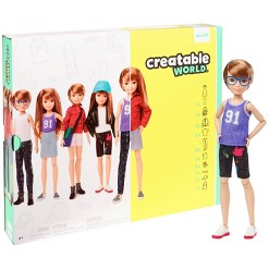 Creatable World Deluxe Character Kit Customizable Doll - Copper Straight Hair