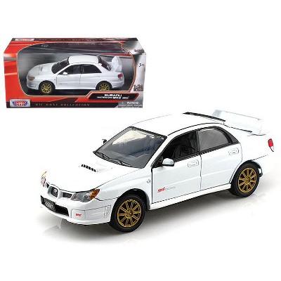 Subaru Impreza WRX STi White 1/24 Diecast Model Car by Motormax