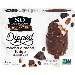 So Delicious Dairy Free Almond Milk - Mocha Almond Fudge Frozen Dessert Bar - 9.2oz