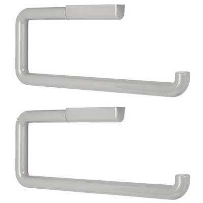 mDesign Plastic Wall Mount/Under Cabinets Paper Towel Holder