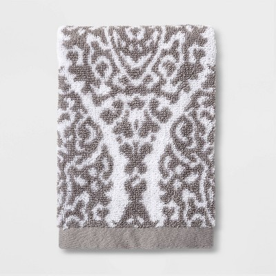 Performance Ogee Washcloth Gray Ogee - Threshold™