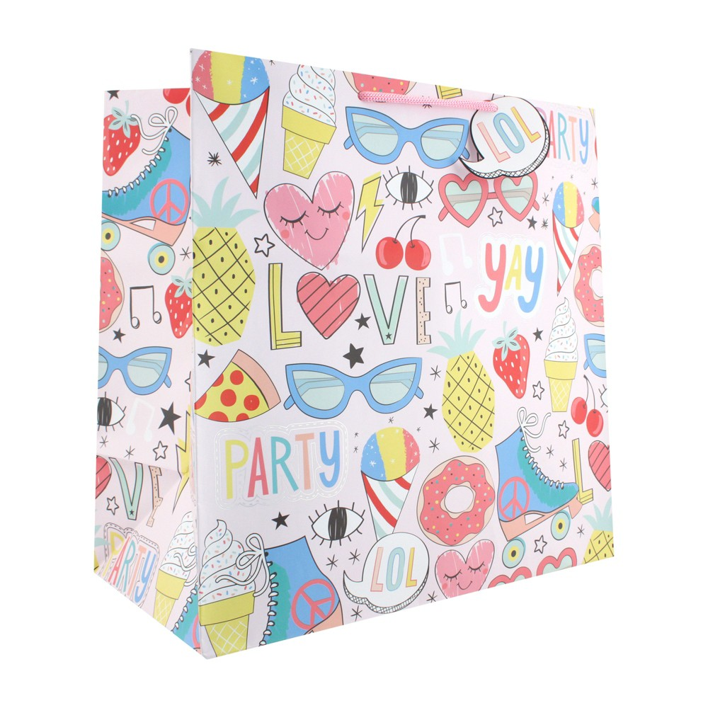 Image of Party Fun Square Gift Bag - Spritz