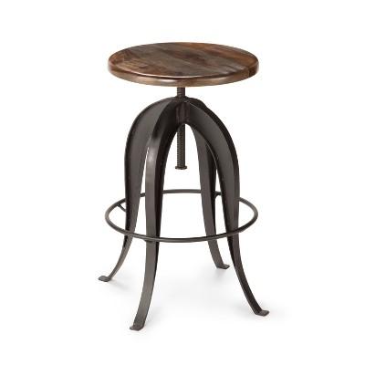 Bon Sparrow Round Crank Pub Table Sheesham Wood   Steve Silver