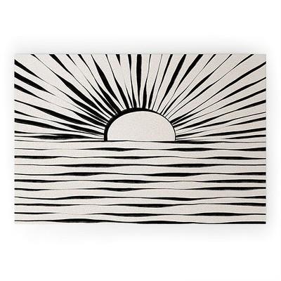 Alisa Galitsyna Minimal Sunrise Sunset Looped Vinyl Welcome Mat - Society6