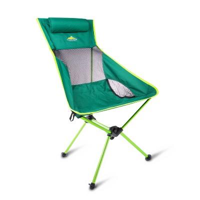 Cascade Mountain Tech High Back Camp Chair - Green
