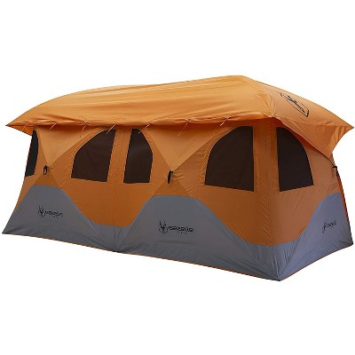 Gazelle GT800SS T8 Extra Large 4 to 8 Person Capacity Family Portable Instant Pop Up Outdoor Shelter Camping Hub Tent, Orange