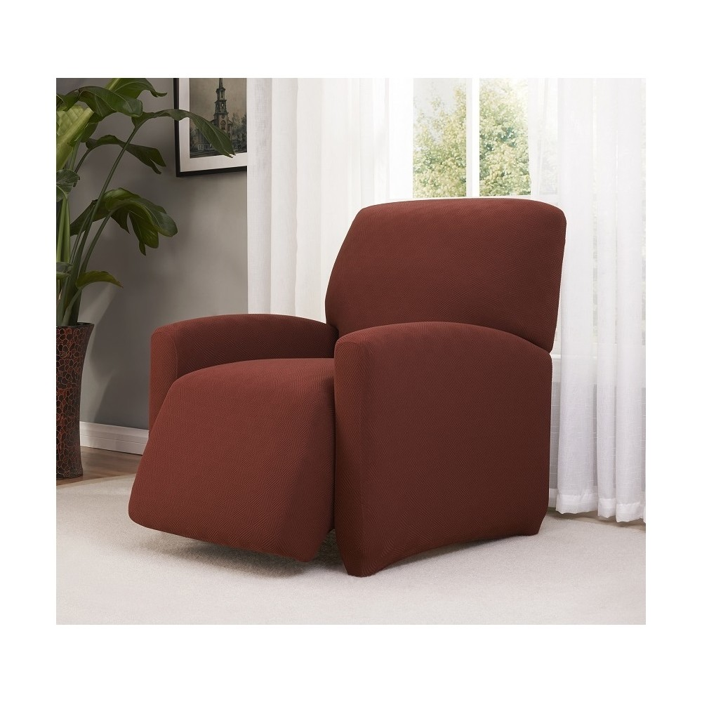 Image of Burgundy (Red) Solid Recliner Slipcover