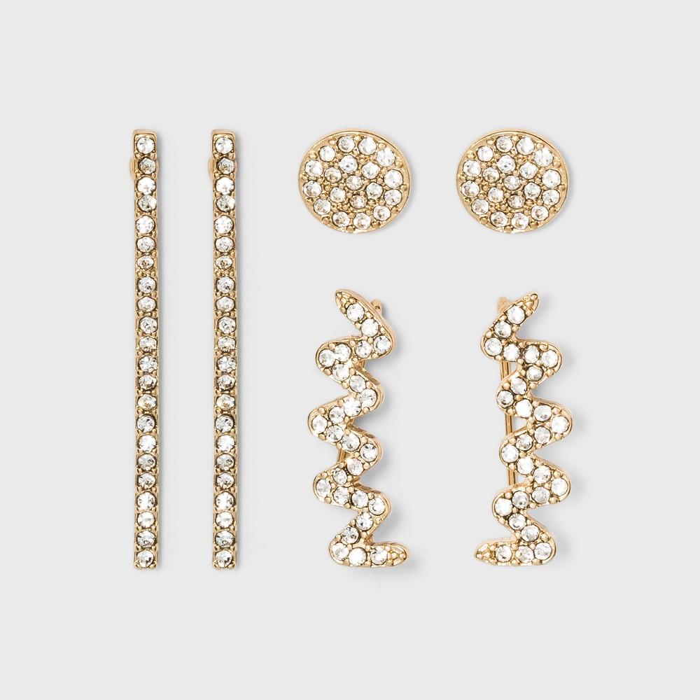 Sugarfix by BaubleBar Glamorous Stud Earring Set - Gold, Girl's