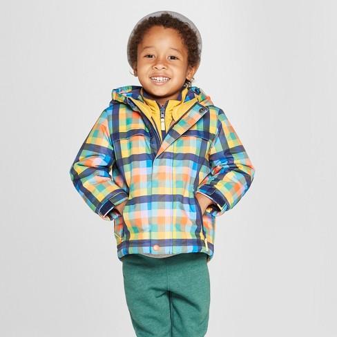 74678e5783fb Toddler Boys  Plaid 3-in-1 Jacket - Cat   Jack™ Navy   Target