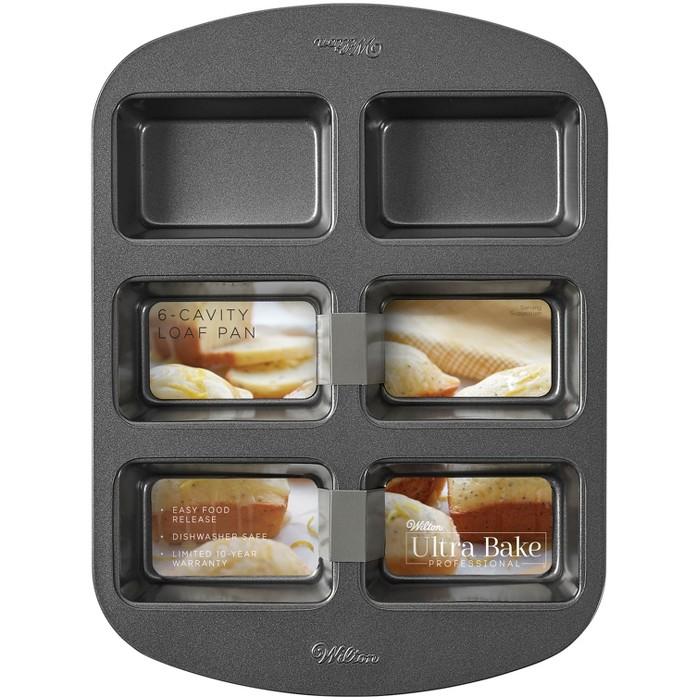 Wilton Ultra Bake Professional 6 Cavity Nonstick Mini Loaf Pan - image 1 of 5
