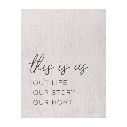 23 62 X 30 31 Life Story Home Oversized Wall Art White Stratton Home Dcor Target