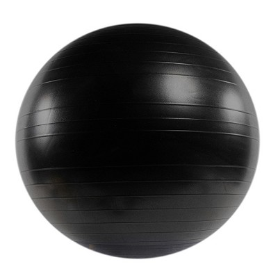 Power Systems Versa PRO Stability Inflatable Exercise Workout Ball Equipment for Home or Gym Balance & Strength Gain, 65 Centimeter/25.5 Inch (Black)