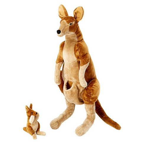 Melissa Doug Giant Kangaroo And Baby Joey In Pouch Lifelike