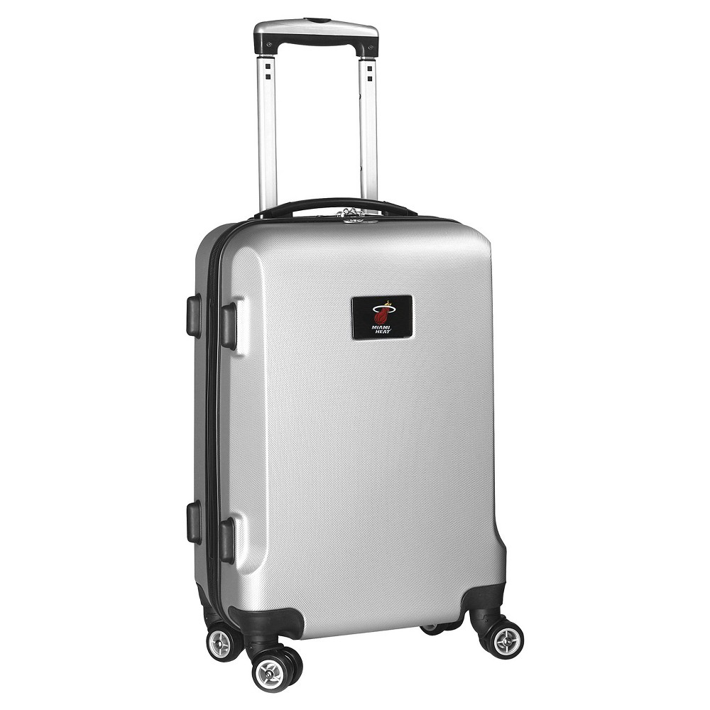 NBA Miami Heat Mojo Hardcase Spinner Carry On Suitcase - Silver