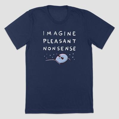 Men's Strange Planet Imagine Pleasant Nonsense Short Sleeve Crewneck T-Shirt - Navy