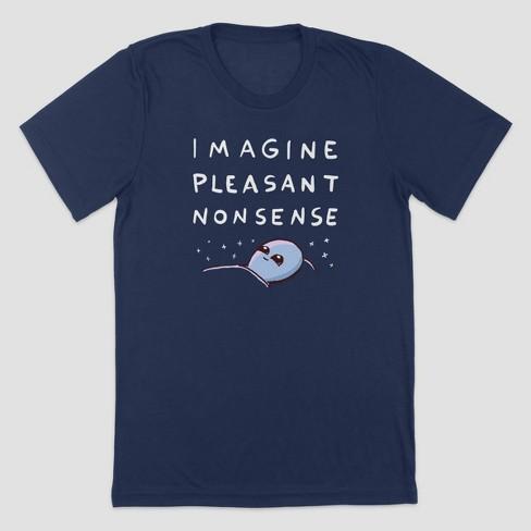 Men's Strange Planet Imagine Pleasant Nonsense Short Sleeve Crewneck T-Shirt - Navy - image 1 of 1